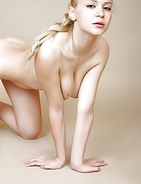 Naked blonde chick